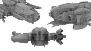Nadir Ship, renderings, Startlink Battle for Atlas, Ubisoft, Ubisoft's modular starship toys development