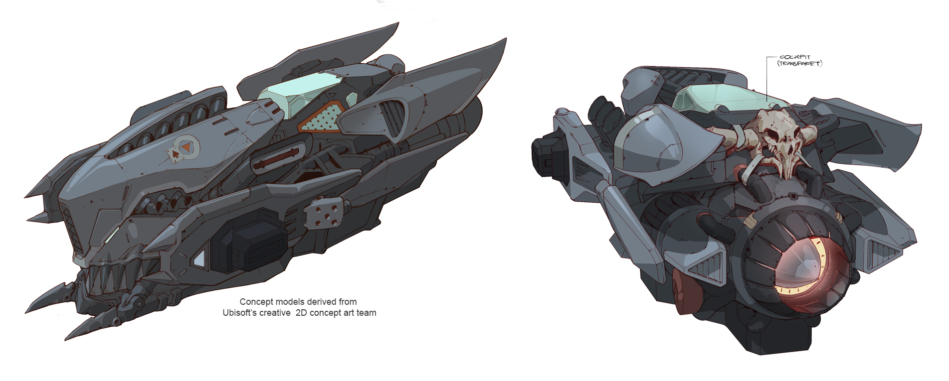 Concept Models from Ubisoft for the Nadir Ship