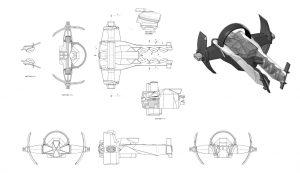 Zenith Ship, Technical Drawings, Startlink Battle for Atlas, Ubisoft, Ubisoft's modular starship toys development