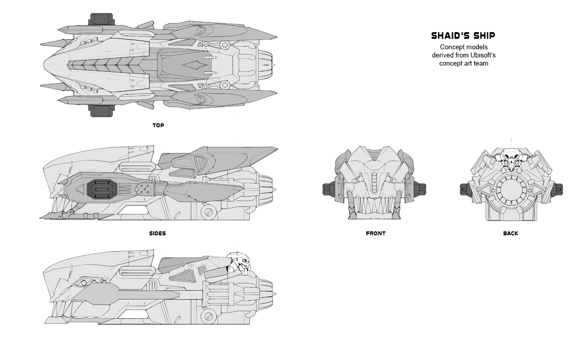 Shaid Ship (Nadir) Technical Drawings