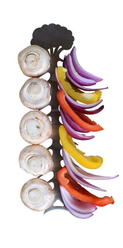 Product Design BBQ Skewers holding veggies