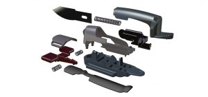 exploded view, Cad drawing, Finger Blade design, Finger cutting tool, cutting tool, Fingerblade, product design
