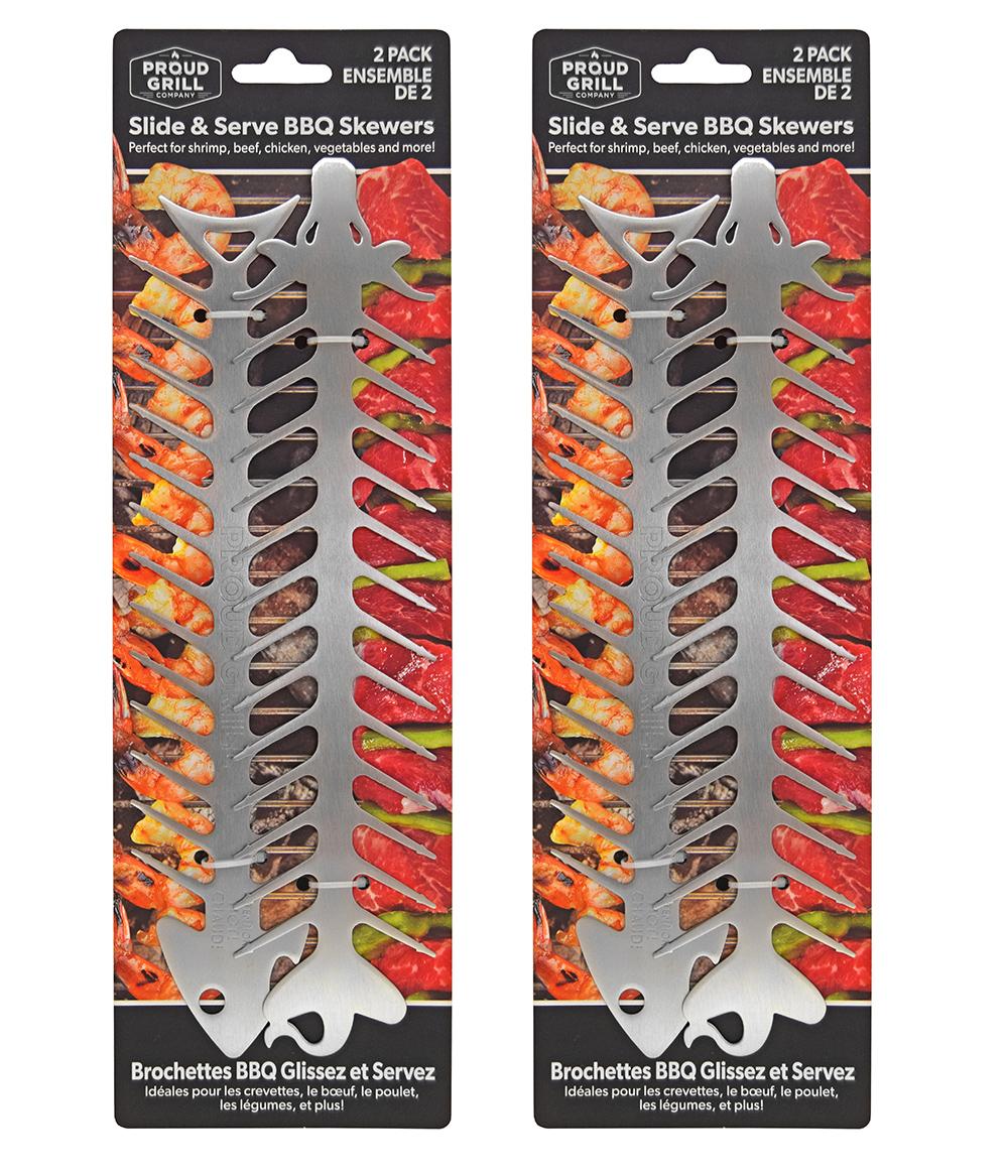 Proud Grill Slide & Serve BBQ Skewer Packaging