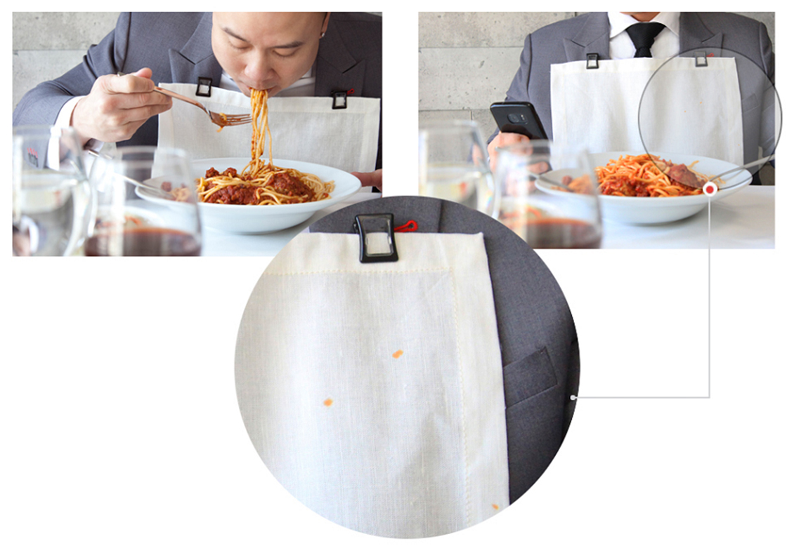 The innovative and unique design of Taidi Clips can clasp and hold paper, linen napkin and even a face towel!