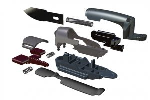 Product Development of Finger Blade | Exploded View