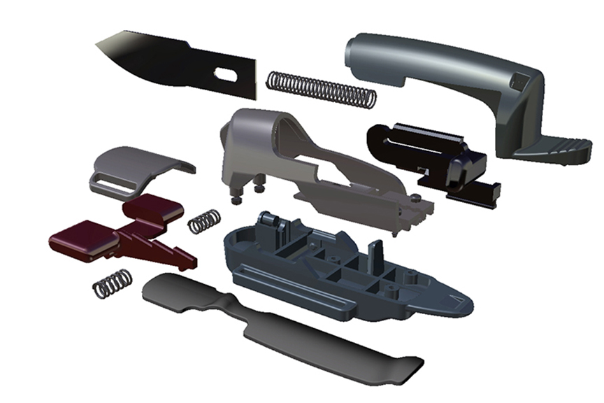 Exploded View Finger Blade