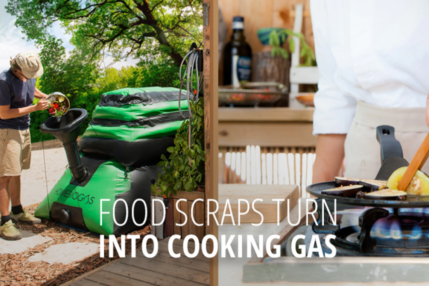 The HomeBiogas turns your waste into clean energy